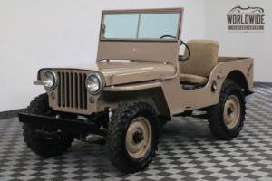 1946 Willys CJ2A FRAME OFF BUILD SHOW READY