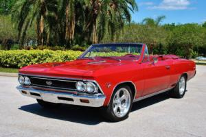 1966 Chevrolet Chevelle Convertible 427 4-Speed Triple Red! Must See!