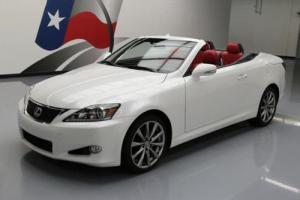 2014 Lexus IS HARD TOP CONVERTIBLE RED LEATHER
