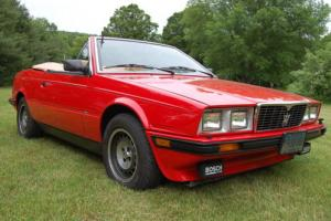 1987 Maserati BiTurbo Spyder Red/Tan 5 Speed. Very Nice!! Photo