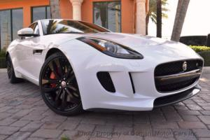 2015 Jaguar F-Type 2015 SUPERCHARGED F-TYPE S COUPE WHITE w/RED LEATH