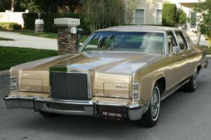 1979 Lincoln Town Car SURVIVOR - TWO OWNER - 58K MI Photo