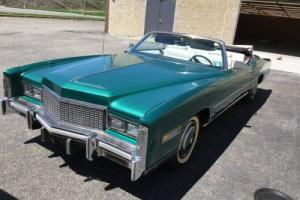 1976 Cadillac Eldorado Conv green -- Photo