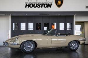 1967 Jaguar E-Type Convertible Series I Restored by Best of Britain Beige OTS Photo