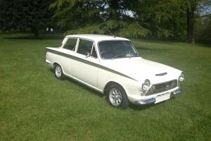1963 Lotus CORTINA WHITE/GREEN Classic Car  Photo