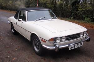 1973 TRIUMPH STAG - Manual Overdrive , just fully serviced , history and mot TAX  Photo