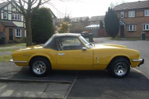 Triumph spitfire (73) low usage since full restoration. full mot. on the button