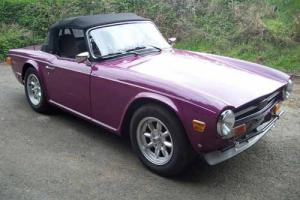 TRIUMPH TR6 FINISHED IN MAGENTA STUNNING 1973  Photo