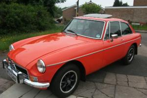 MG B GT 1979 fitted with Chrome Bumpers  Photo