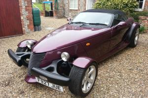 PLYMOUTH PROWLER REPLICA FIERO FACTORY V2 HOT ROD KIT CAR MOTTAX PURPLE AMERICAN  Photo