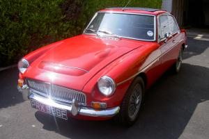 1968 MG C GT TARTAN RED COUPE