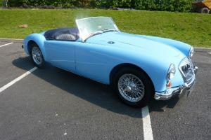 MG A sports/convertible Blue eBay Motors #171054834928 Photo