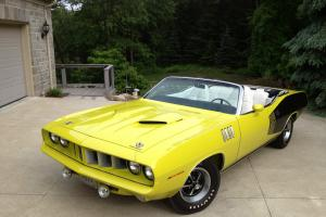 1971 Plymouth Cuda 383 Convertible - Curious Yellow *All Numbers Match* MINT