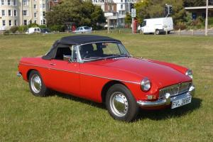 1967 MGB Roadster in superb condition, Flame Red, Tax exempt, MOT June 2014