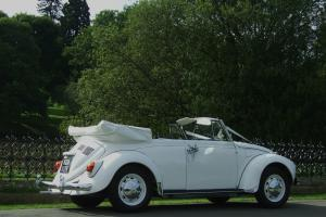 Tax exempt White Classic Volkswagen Beetle Karmann Convertible LHD