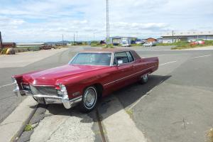 1968 CADILLAC COUPE DEVILLE RED STUNNING RARE