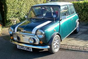 1991 ROVER MINI COOPER GREEN/WHITE CLASSIC CAR WITH FULL HISTORY