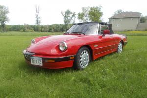 Sporty  Red 1988 Alfa Romeo Spider Quadrifoglio Convertible w/ Hard Top