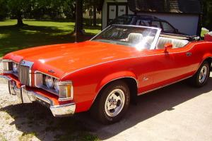 1973 cougar convertible  351 -4v engine  rare   1of 40 built  with marti report