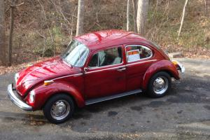 1974 VW SuperBeetle-Restored NEW Engine,CandyApple Red,Rare AutoStick, Warranty!