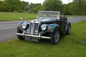 1963 MG TF Triumph Gentry in Racing Green Kit Car with Tan Interior  Photo