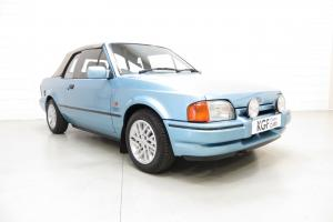 Ford Escort XR3i Cabriolet Special Edition, Two Owners, 36,388 Miles, History