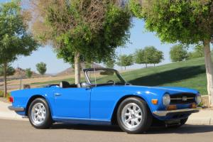 1972 Triumph TR-6 Beautiful Restoration Excellent Driving Car Rust Free Must See Photo