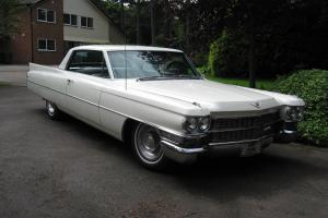 FABULOUS 1963 CADILLAC SERIES 62 COUPE in aspen white/black