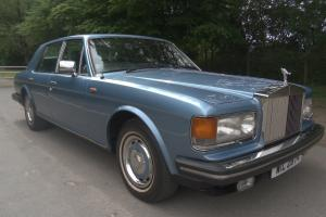 1982 ROLLS ROYCE SILVER SPIRIT OCEAN BLUE ONLY 78000 MILES  Photo
