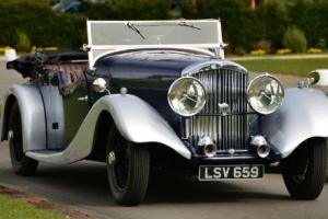 1934 Derby Bentley 3 1/2 litre Vanden Plas style tourer.  Photo