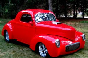 "1941 Coupe,Red/Tan,Awesome Build,502BB,Turbo 400,Disc,Non Pro-Street,9""Rear,Mint"