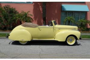 1940 HUDSON DELUXE SIX P40 CONVERTIBLE RARE CLASSIC MUST SEE