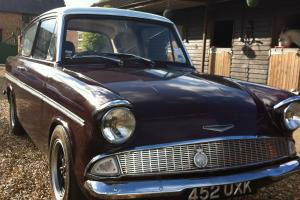 Ford Anglia with shorrock supercharger
