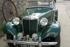 MG TD 1952 GREEN, Tax and MOT exempt.