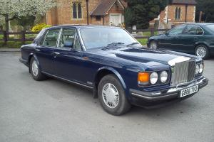 BENTLEY EIGHT 1990 G BLUE LONG MOT 91500 MILES SERVICE HISTORY VGC NO RESERVE