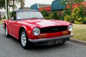 1969 TRIUMPH TR6 RED  Photo