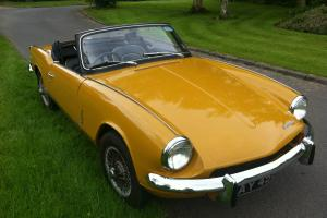 1970 Mk3 Triumph Spitfire 51,000 miles, 2 previous owners. Full MOT Overdrive