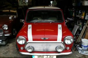 PRIVATE SALE OF RED CLASSIC JOHN COOPER MINI - LOW MILEAGE - ONE YEARS MOT