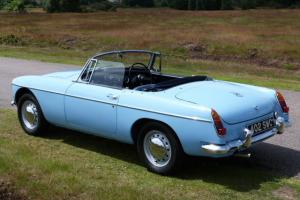 1965 MGB ROADSTER IRIS BLUE, JUST 14000 MILES