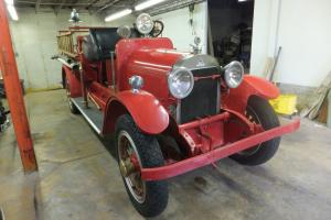 Rare 1923 Stutz Model K (Baby) Fire Truck. Four- Cylinder, Overhead Valve Engine Photo