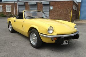 TRIUMPH SPITFIRE MK4 MIMOSA YELLOW TAXED AND TESTED JUST RESTORED
