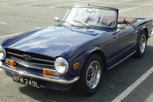 1973 TRIUMPH TR6 BLUE  Photo
