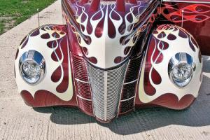 1940 FORD COUPE HOT ROD CUSTOM AMERICAN CAR GEORGE BARRIS STEEL NOT A REPLICA