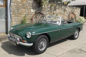 MGB Roadster 1969, in British racing green.