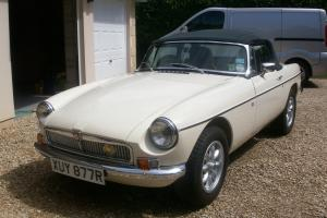 1977 MGB V8 ROADSTER WHITE  Photo