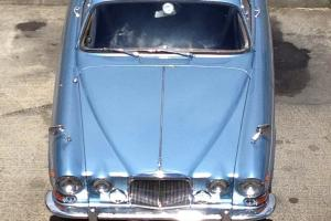 JAGUAR 420G 1968 METALLIC BLUE NAVY BLUE LEATHER COOMBES HISTORY READY TO DRIVE