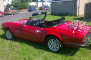 Red 1972 MKIV Triumph Spitfire  Photo