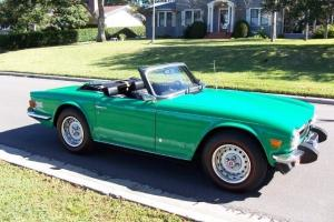 1975 Triumph TR6 Low Mileage Jawa Green Survivor Car