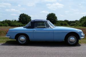 1963 PULL HANDLE MGB ROADSTER IRIS BLUE, JUST 14000 MILES