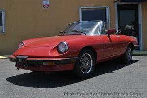 1987 Alfa Romero spider! 75000 miles. New Top! New Seats! No Reserve!